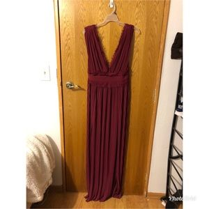 Long burgundy dress. Worn once.